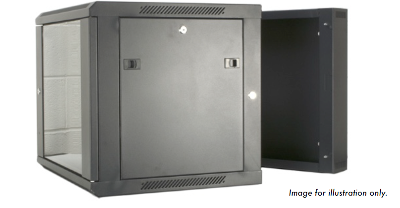 9U 19 inch Wall Mount N Series Network  Data Cabinet  Rack (WxDxH) 550x600x460mm - Dual Section