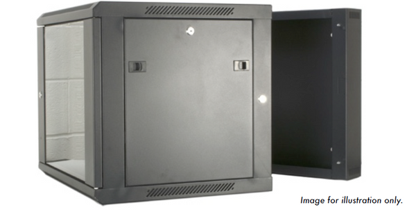 9U 19 inch Wall Mount N Series Network  Data Cabinet  Rack (WxDxH) 550x600x460mm - Dual Section - Rack Sellers