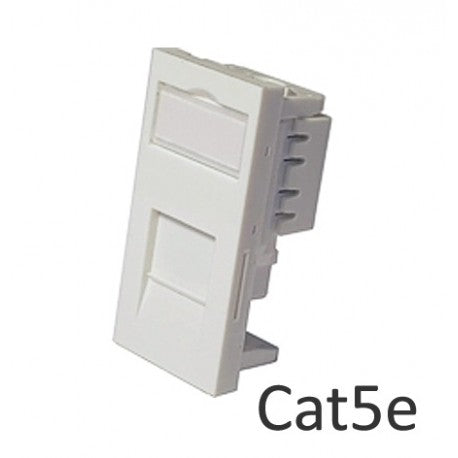 Low Profile RJ45 Network Module CAT5e - Shuttered - Rack Sellers