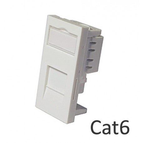 Low Profile RJ45 Network Module CAT6 - Shuttered - Rack Sellers