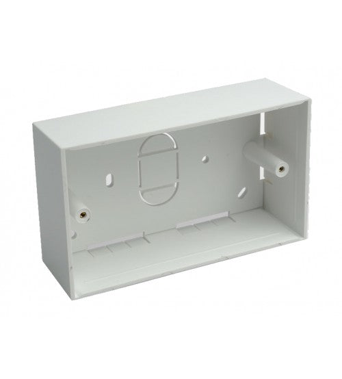 Double Gang Back Box (Surface Mount) 46mm - Rack Sellers