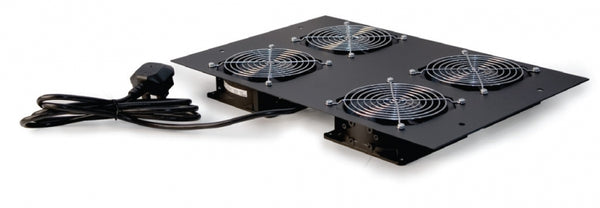 Roof mount cooling unit with 4 fans for 1000mm deep rack cabinets - Rack Sellers