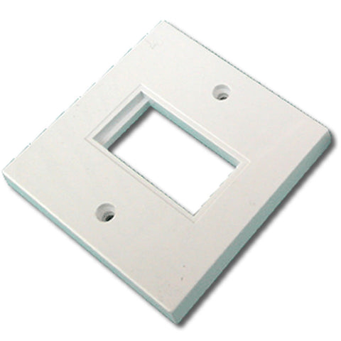 86mm x 86mm single gang face plate - Flat – White (1 Slot)