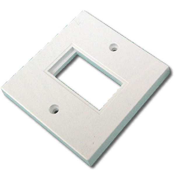86mm x 86mm single gang face plate - Flat – White (1 Slot) - Rack Sellers