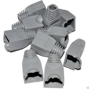 RJ45 BOOTS - Grey - Bag of 100 - Rack Sellers