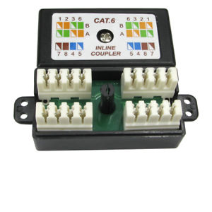 Punchdown / Krone CAT6 Coupler - Black - Rack Sellers