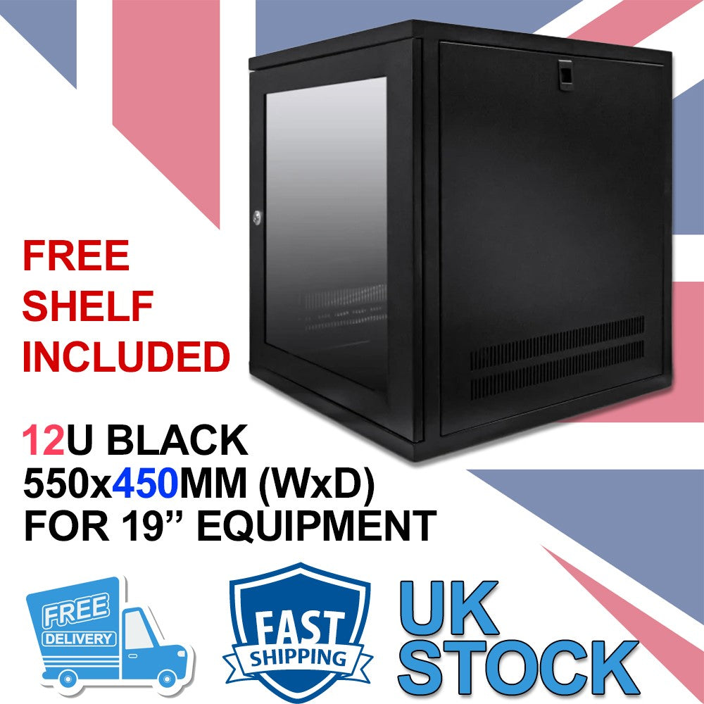 12U 19 inch Wall Mount N Series Network  Data Cabinet  Rack (WxDxH) 550x450x600mm