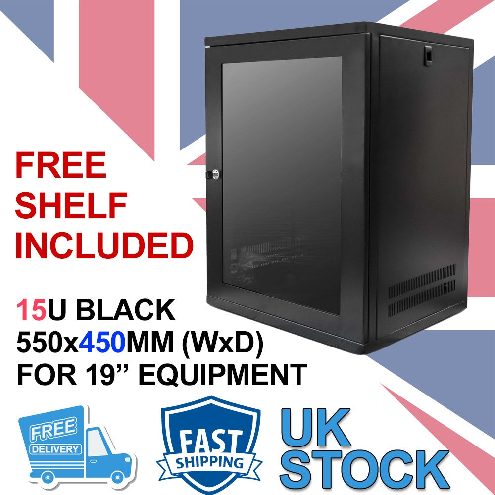 15U 19 inch Wall Mount N Series Network  Data Cabinet  Rack (WxDxH) 550x450x720mm