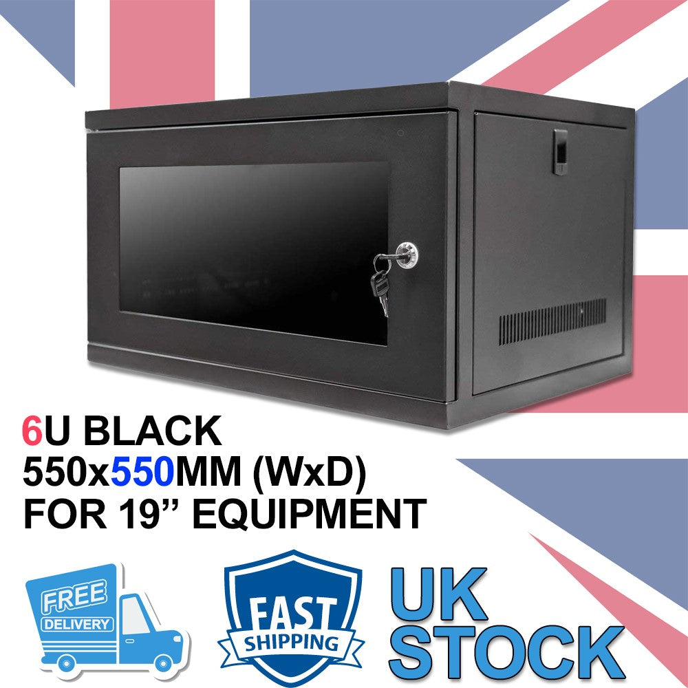 6U 19 inch Wall Mount N Series Network  Data Cabinet  Rack (WxDxH) 550x550x320mm