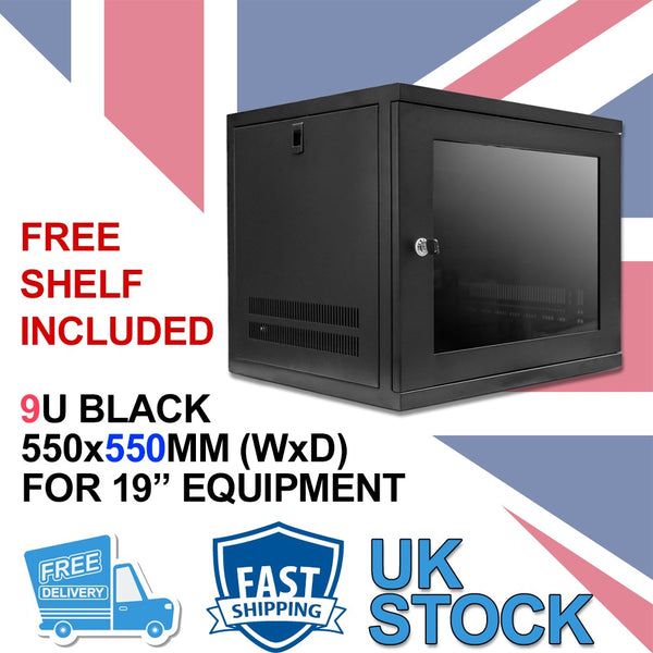 9U 19 inch Wall Mount N Series Network  Data Cabinet  Rack (WxDxH) 550x550x460mm