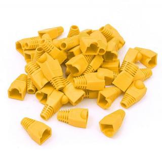 RJ45 BOOTS - Yellow - Bag of 100