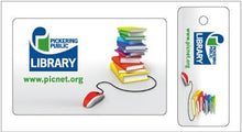 library card key tag