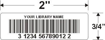 single thermal bar code label