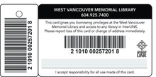 pvc library patron cards