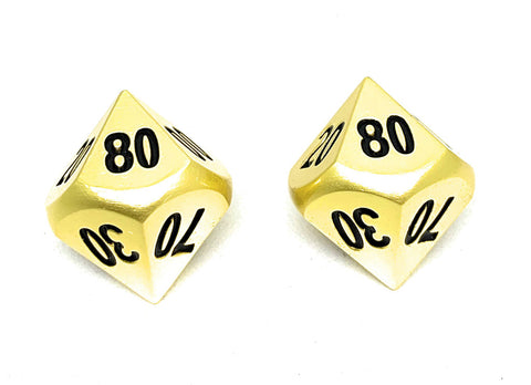 Cthulhu's Gold Dice D00 (D%) Percentile 2 Pack