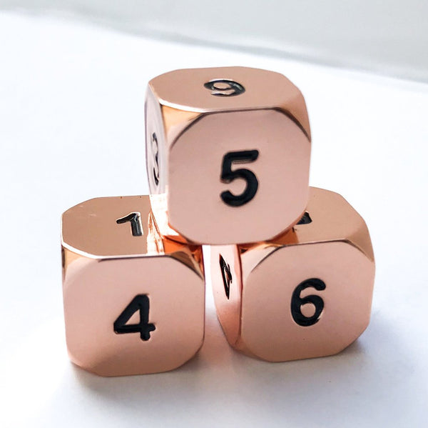 Shadow Rogue Rose Gold Dice D6 3 Pack