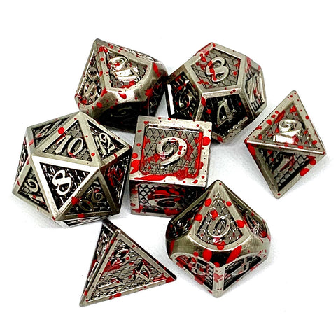 Bloodstained Metal Dice Set