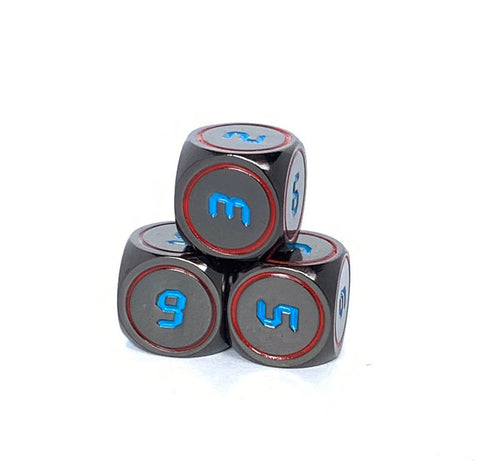 Dark Alpha Dice D6 3 Pack