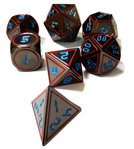 Dark Alpha Metal Dice Set