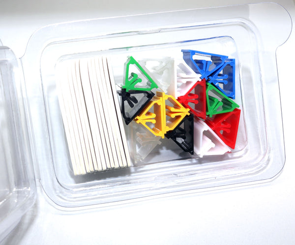 Hero Grips - 14 Pack Multi-colored Stands with Blank Die Cut Cards