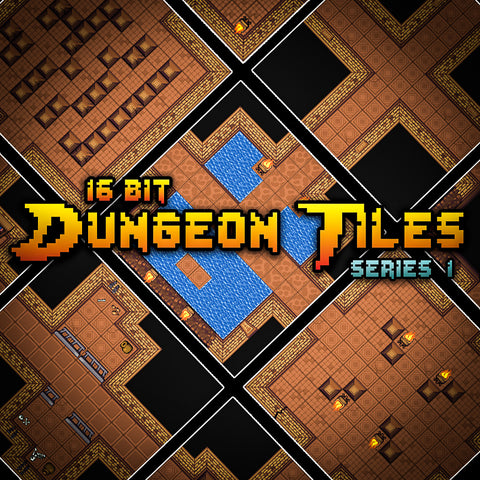 16 Bit Dungeon Tiles Series 1