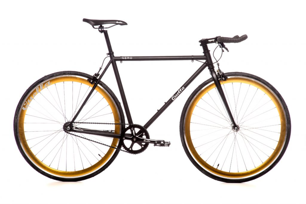 Quella Nero Singlespeed - Gold - Flag Bikes