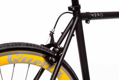 Quella Nero Singlespeed - Yellow - Flag Bikes