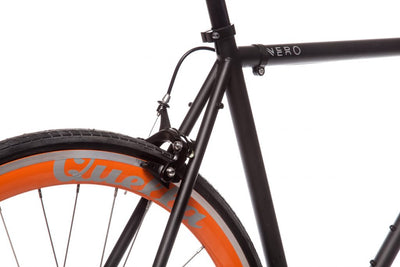 Quella Nero Singlespeed - Orange - Flag Bikes