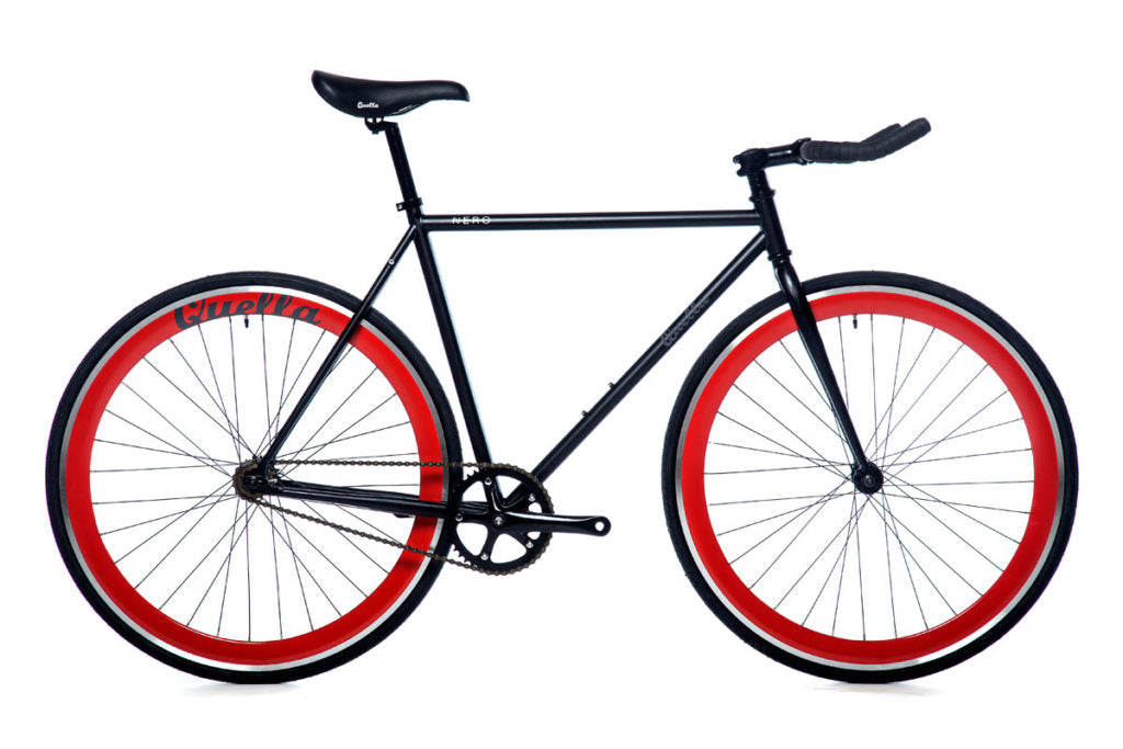 Quella Nero Singlespeed - Red - Flag Bikes