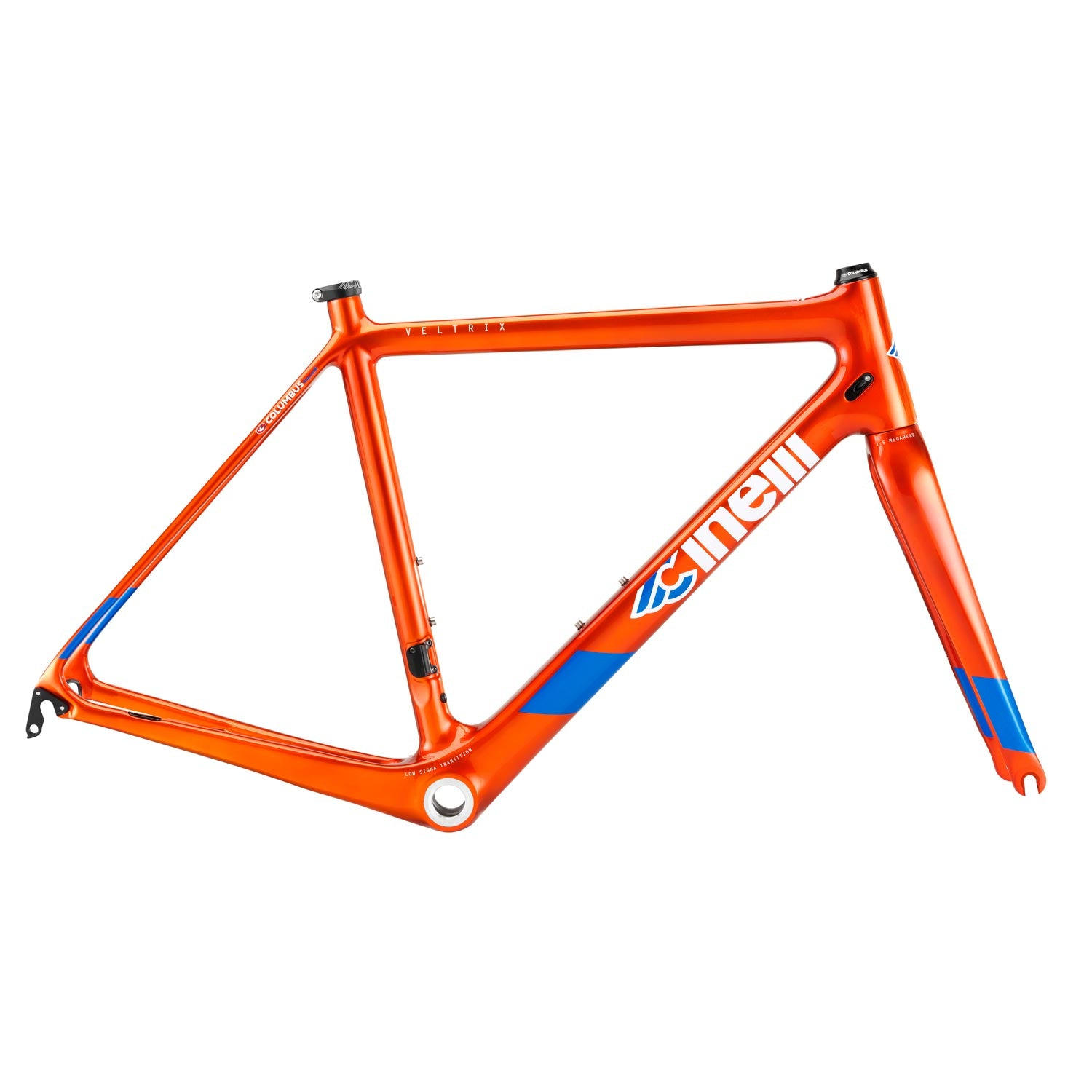 Cinelli Veltrix Caliper Orange Frameset