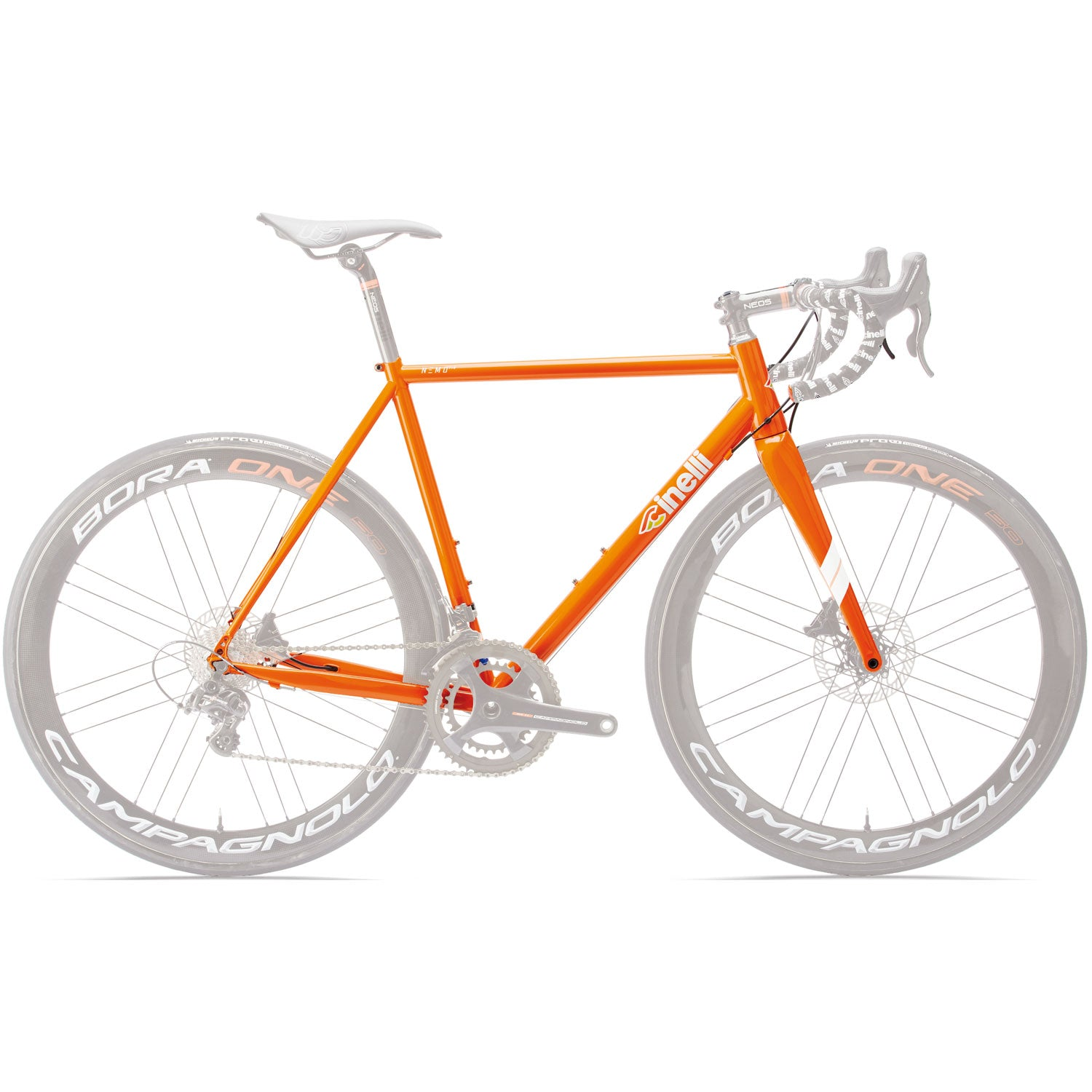 Cinelli Nemo Disc Orange Frameset