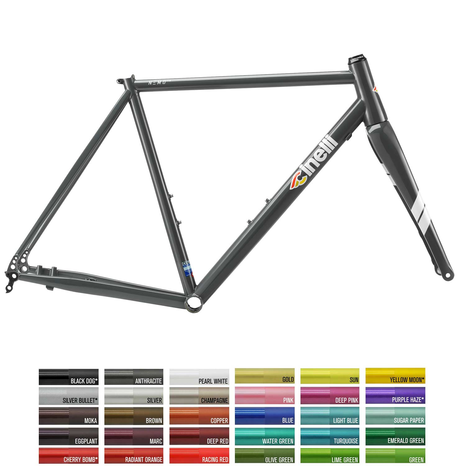 Cinelli Nemo TIG Disc Custom Colour/Geometry Frameset