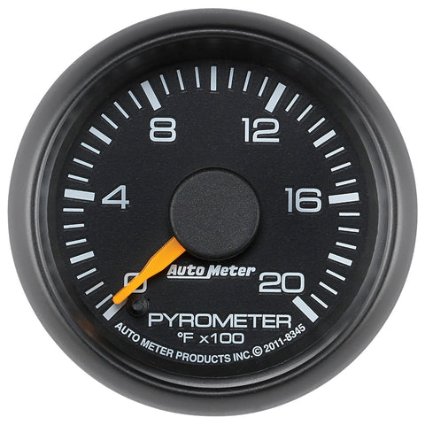 "AUTOMETER (8345) 2-1/16"" PYROMETER, 0-2000 °F, STEPPER MOTOR; GM FACTORY MATCH"