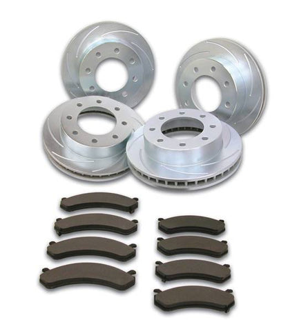 "injected motorsports SSBC (A2351027) ""SHORT STOP"" FRONT/ REAR SLOTTED ROTORS AND PAD KIT; 99-10  GM 1500HD/2500 /3500 SRW"