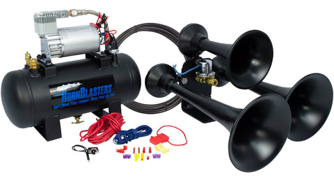 HORNBLASTERS (HK-C3B-127H) OUTLAW 127H BLACK TRAIN HORN KIT