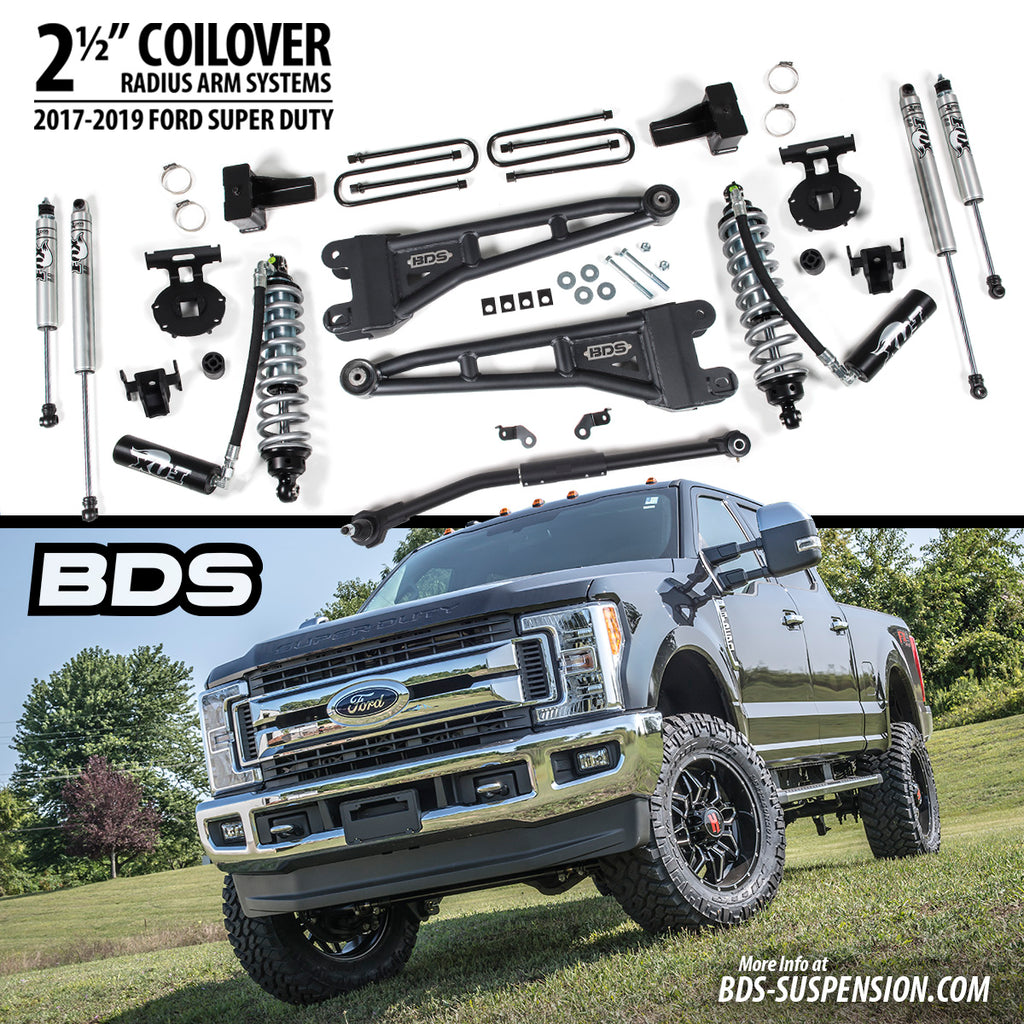 """BDS (1543H ) 2 5"""" COILOVER RADIUS ARM LIFT SYSTEMS"""
