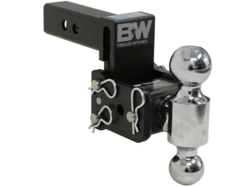 "B&W (TS10033B) 10K Tow & Stow 2-Ball Mount 2"" Hitch - 3"" Drop; 3.5"" Rise"