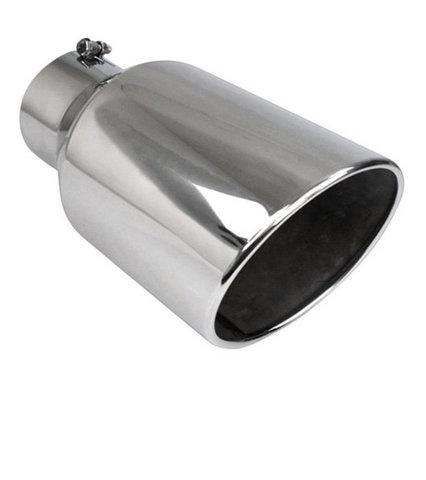 "injected motorsports Different Trend (BQ9-507015RSL)  Diesel Series Round Rolled Edge Angle Cut Bolt-On Exhaust Tip (5"" Inlet, 7"" Outlet, 15"" Length)"