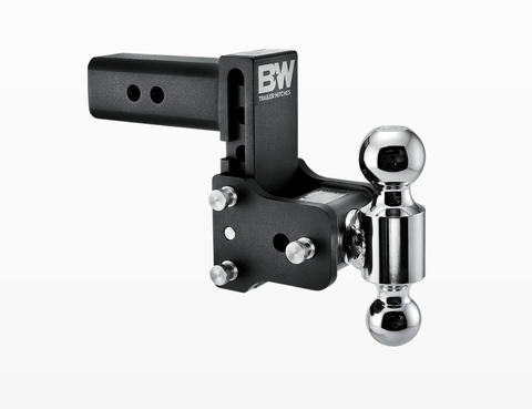 "B&W (TS20037B) Tow & Stow 2-Ball Mount - 2-1/2"" Hitch - 4-1/2"" Drop/Rise - 14.5K - Black"