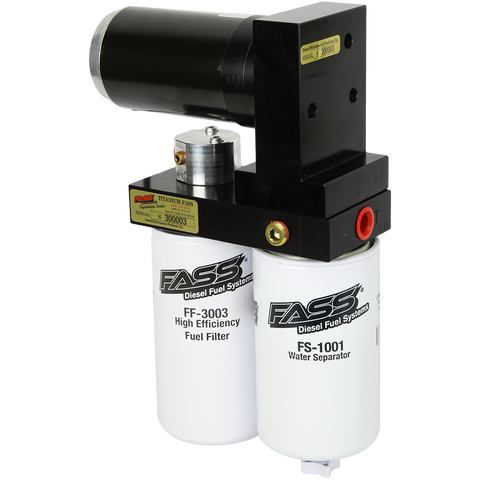 injected motorsports FASS (TSC10095G) TITANIUM SIGNATURE SERIES DIESEL FUEL LIFT PUMP 95GPH; 2001-2010 GM DURAMAX