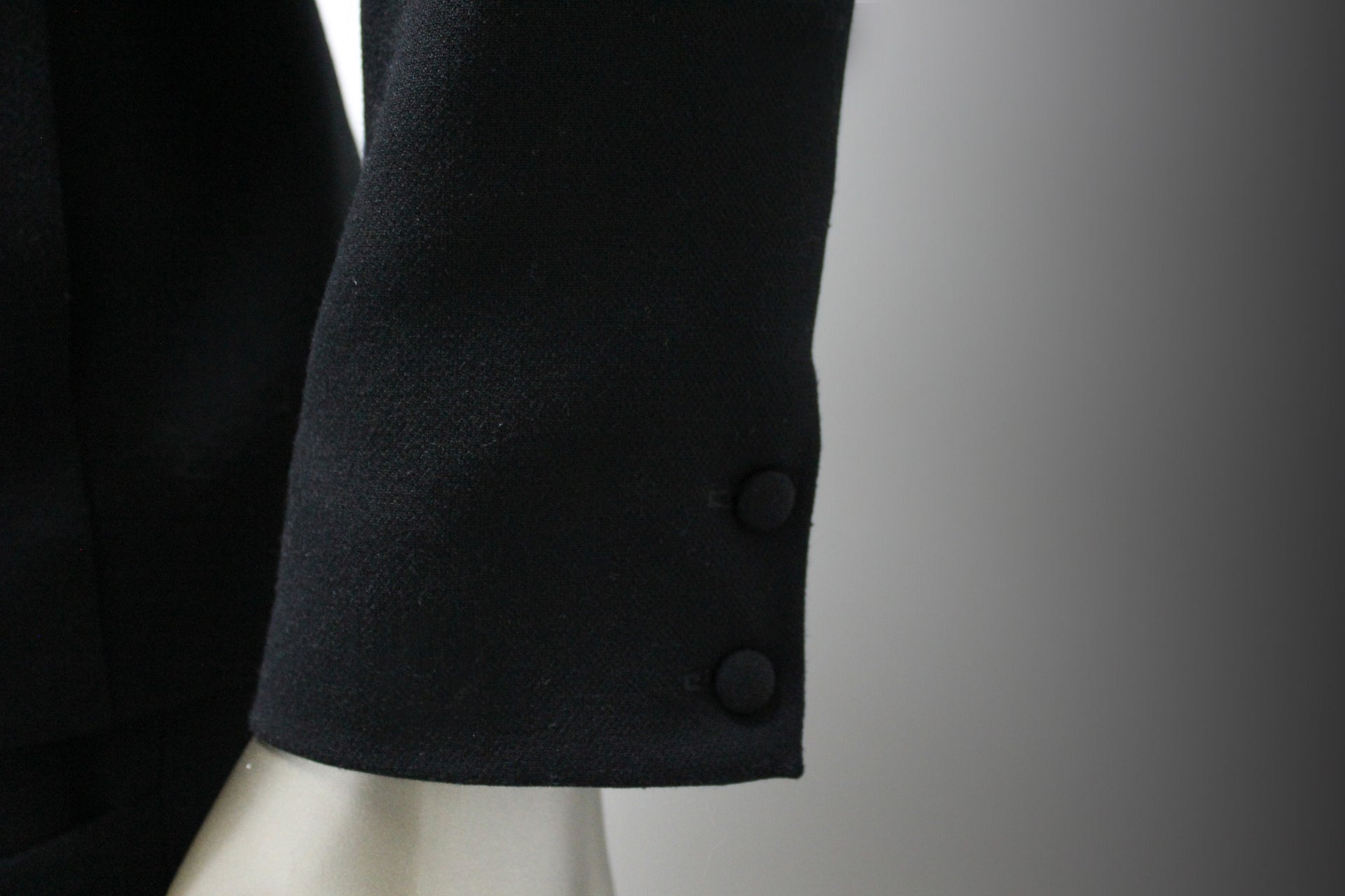 COAT - BLACK, COTTON WITH ELASTANE