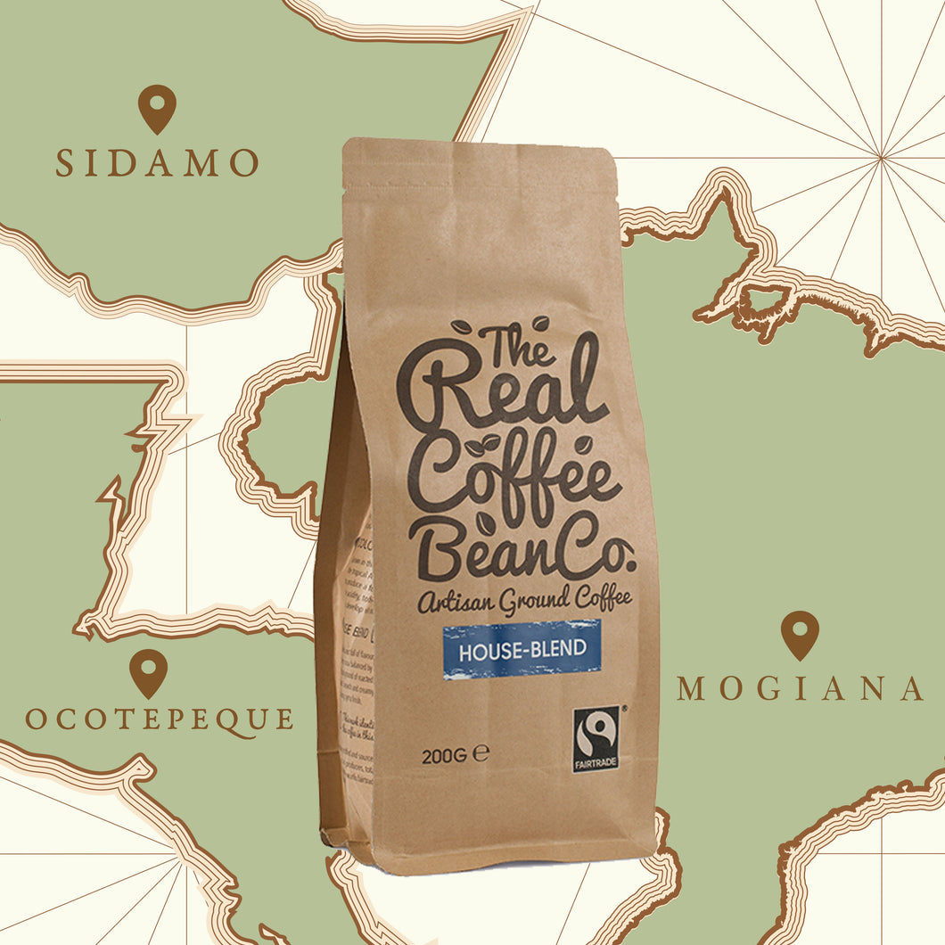 200gm blended origins, Omni-ground, artisan fare trade coffee
