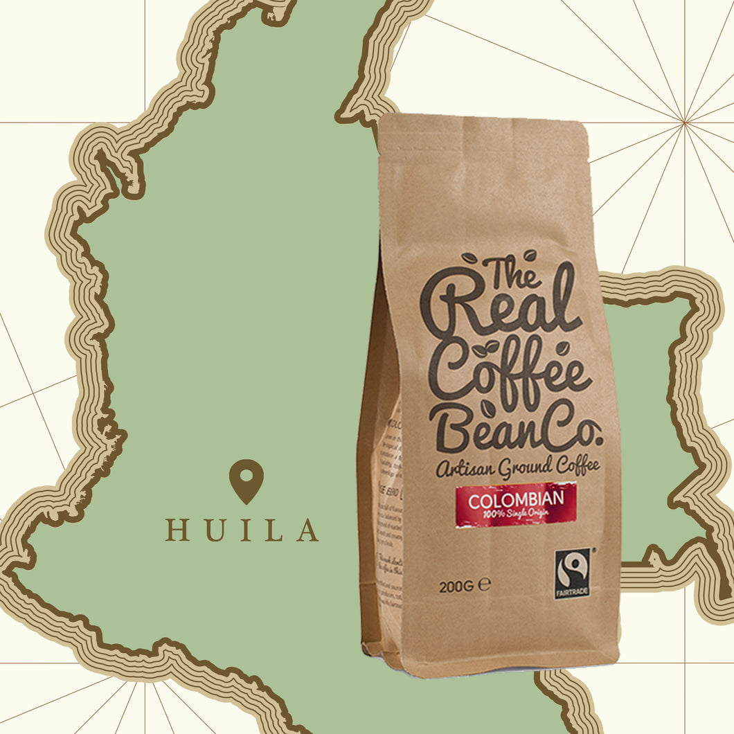 200gm single source Colombian, Omni-ground, artisan fare trade coffee