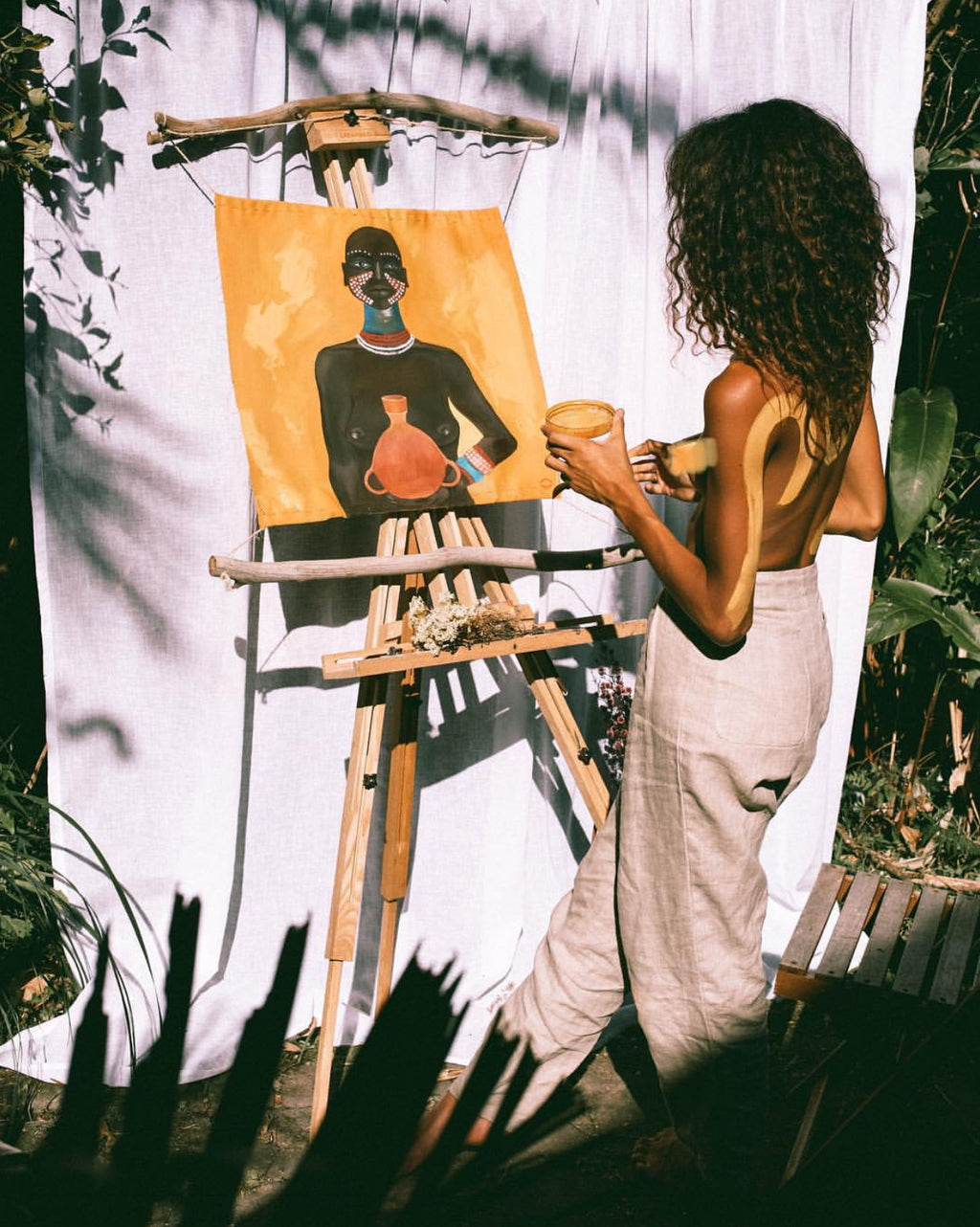 mrousettey, female artists of austrailia, black female painters, best instagram accounts 2019, favorite instagram, magdakine designs, magdakinedesigns, sustainable swimwear brand