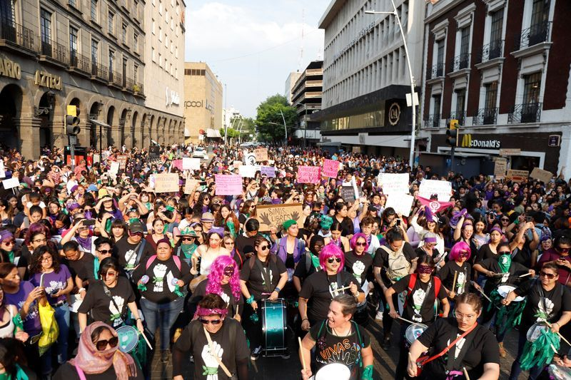 women march 2020 mexico, women strike mexico, women protest mexico 2020, a day without women mexico, un dia sin mujer mexico, mexico women strike, womens march 2020
