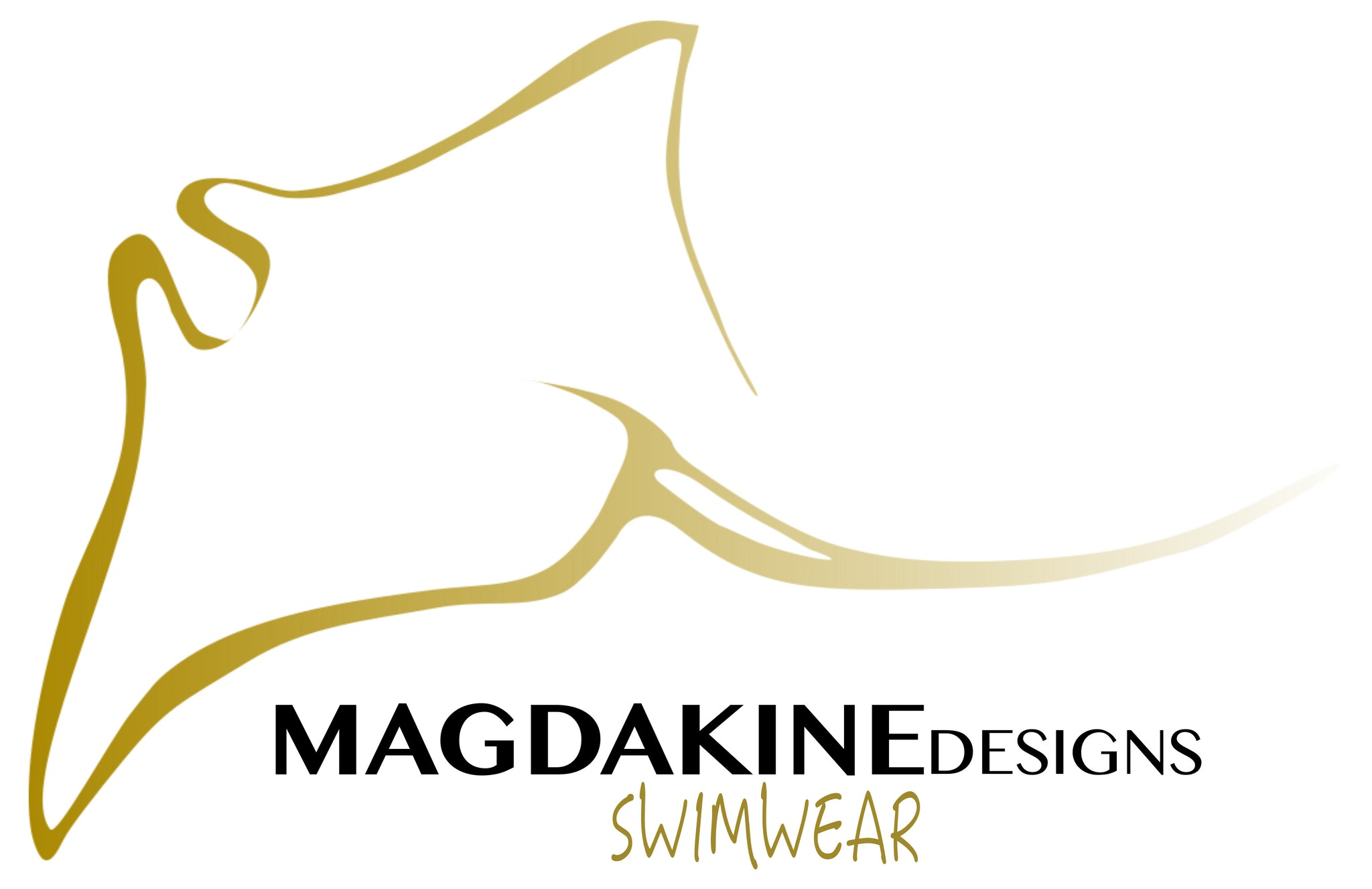 magdakinedeigns manta ray logo gold luxury