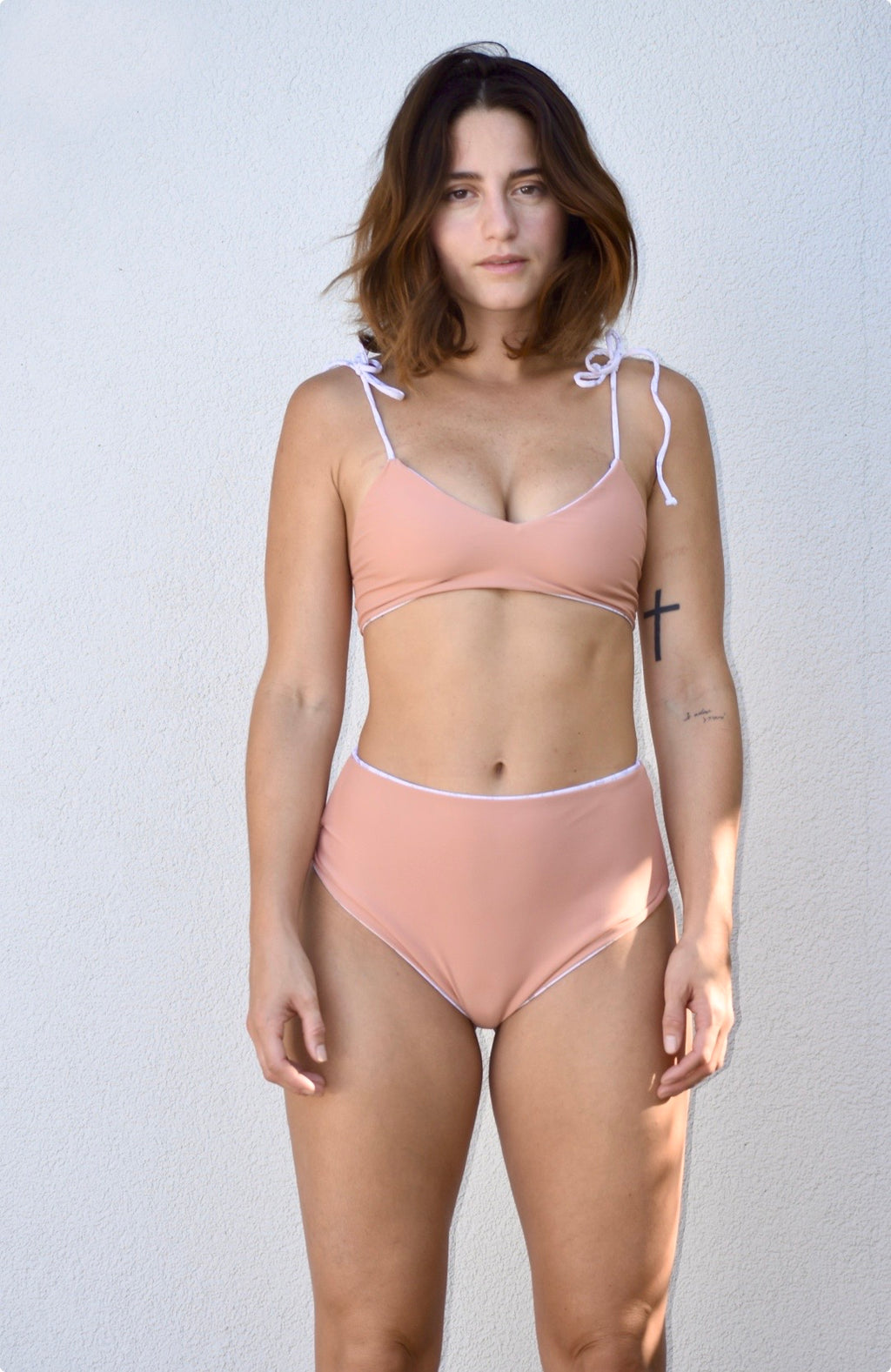 Bayamon Drop-down Bottoms - Reversible - Shark Bite  / Petal Pink