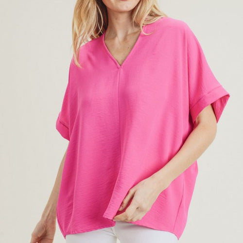 Megan Top-Hot Pink