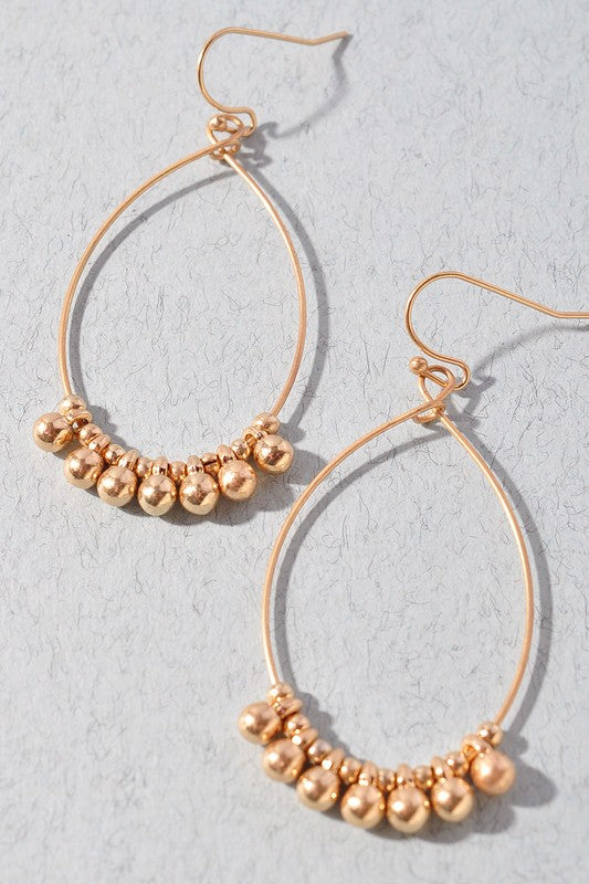 Gold Bead Earrings