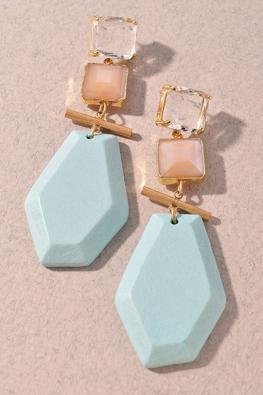 Laney Earrings-Mint